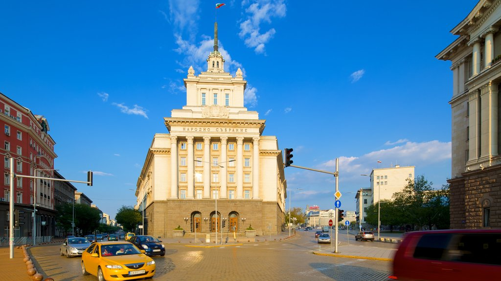 Sofia which includes street scenes and heritage architecture