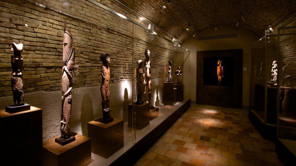 Barbier-Mueller Archeology Museum showing interior views