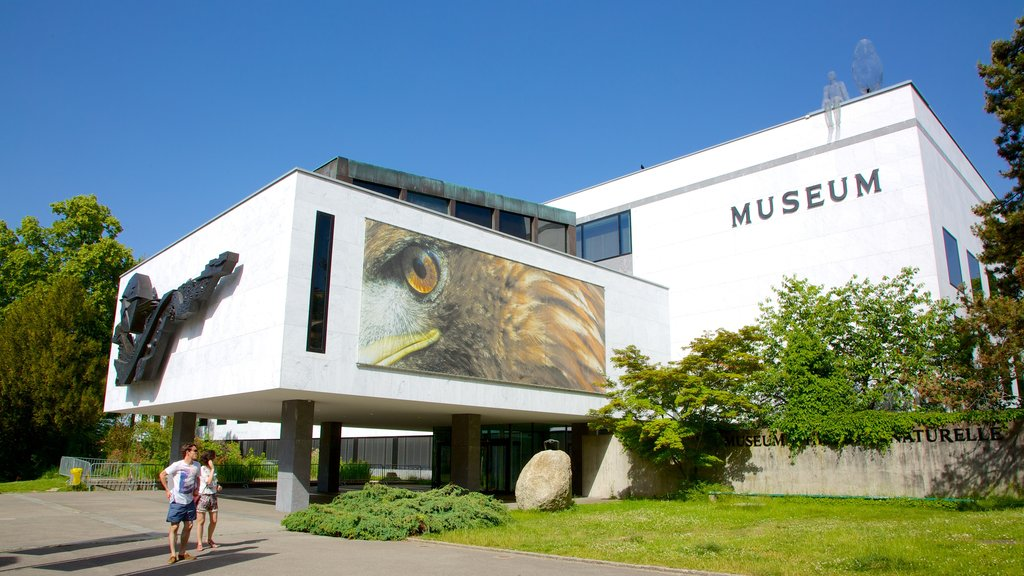 Geneva Museum of Natural History which includes signage