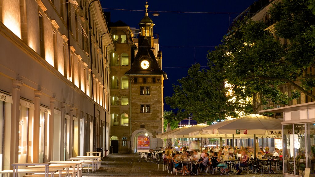 Geneva featuring outdoor eating, nightlife and dining out