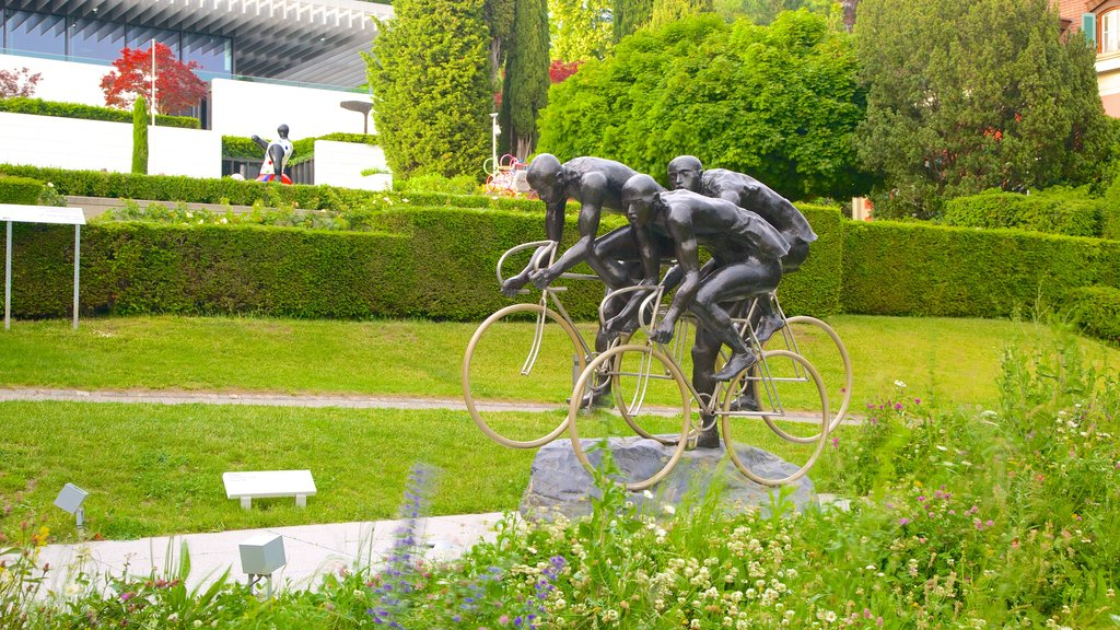 Olympic Museum which includes outdoor art and a garden