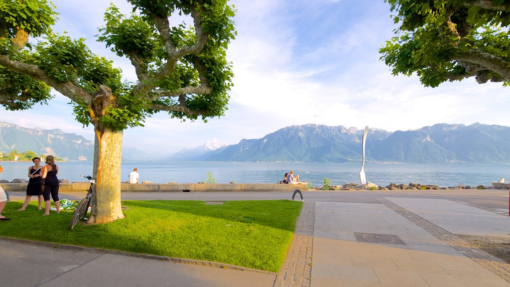 Vevey featuring a lake or waterhole