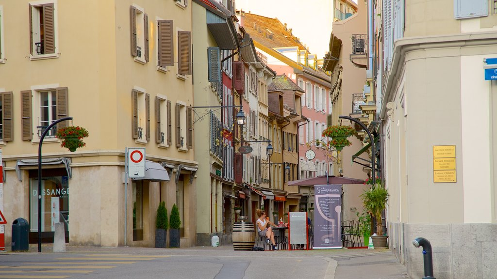 Vevey featuring street scenes