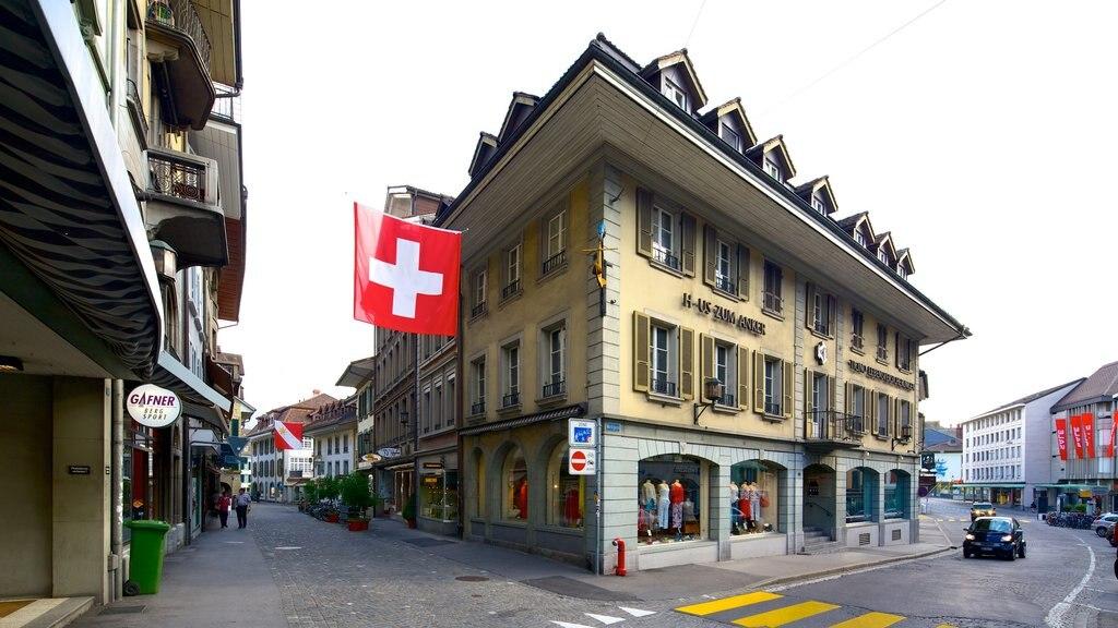 Thun featuring street scenes