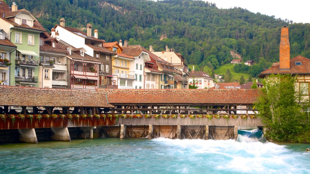 Thun which includes a bridge and a river or creek