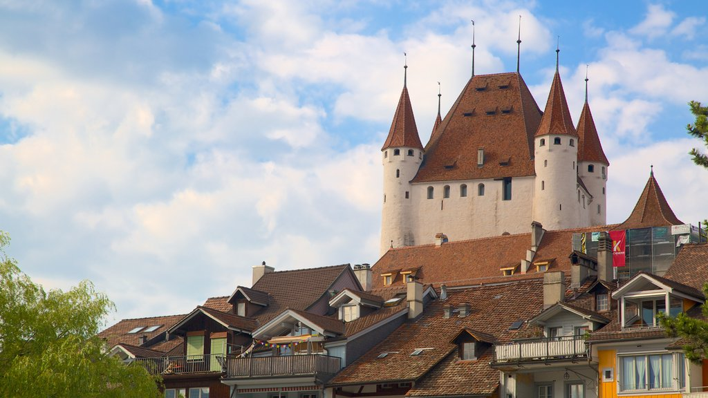 Thun Castle featuring heritage architecture, heritage elements and chateau or palace