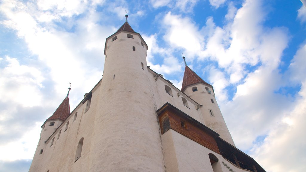 Thun Castle which includes chateau or palace, heritage elements and heritage architecture