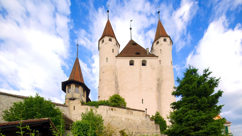 Thun Castle showing heritage architecture and chateau or palace