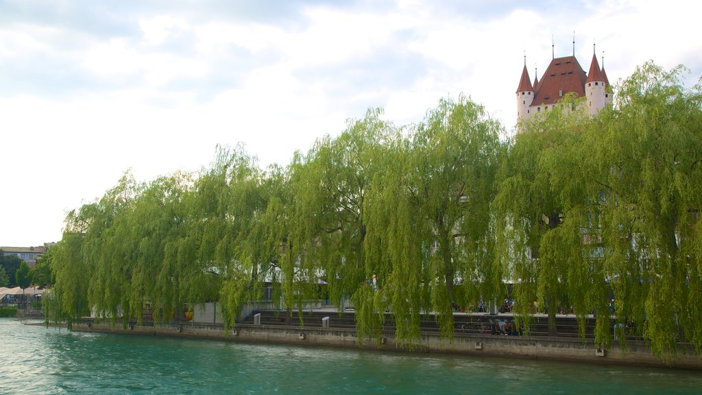 Thun Castle which includes a river or creek