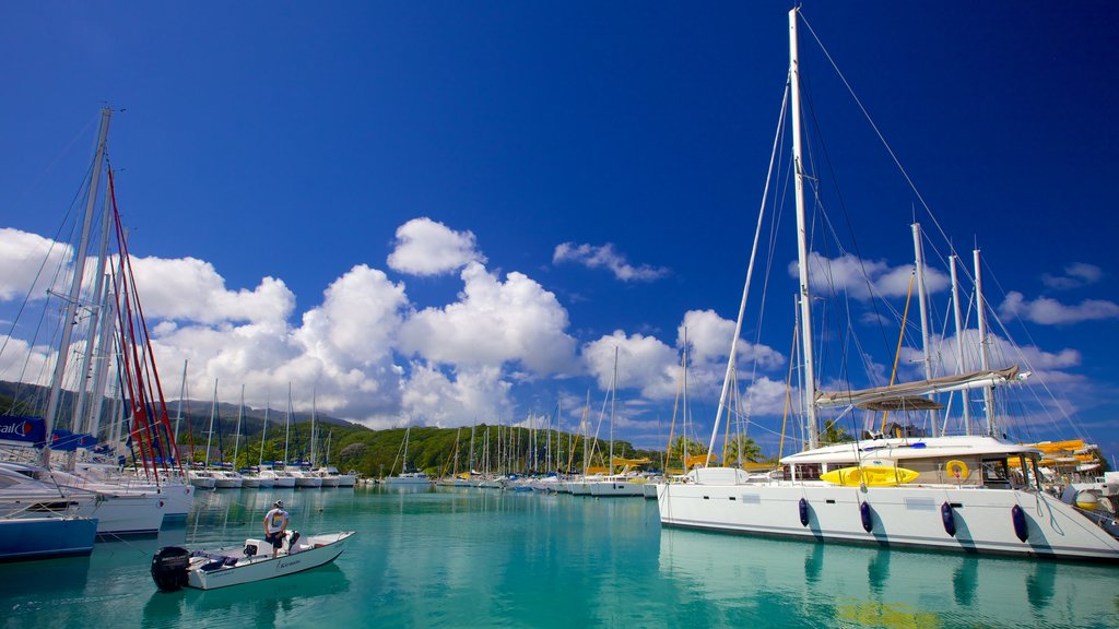 Tahiti which includes boating, a marina and sailing