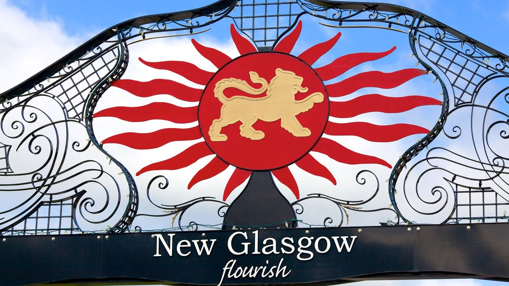 New Glasgow which includes signage