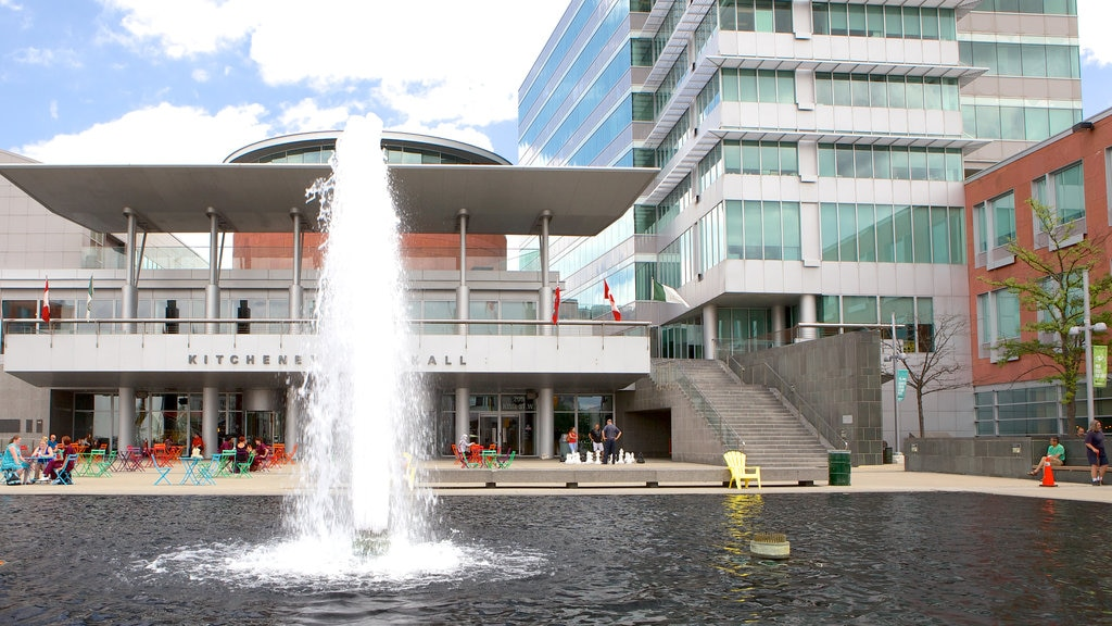 Kitchener which includes a fountain and a city