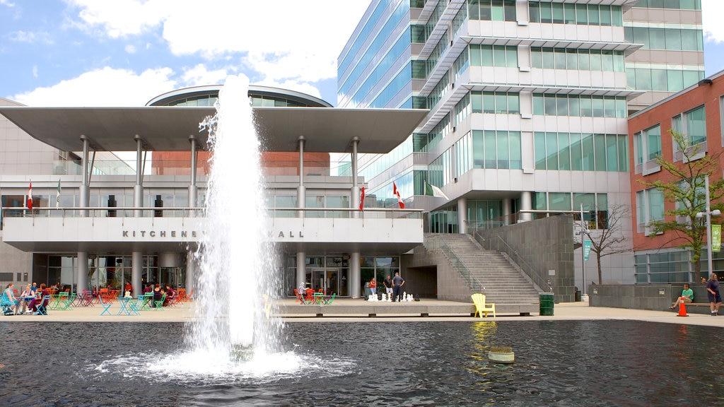 Kitchener mostrando una fuente y una ciudad