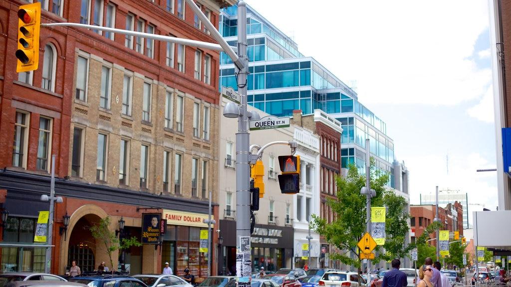 Kitchener showing street scenes