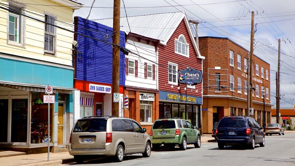 Truro featuring street scenes
