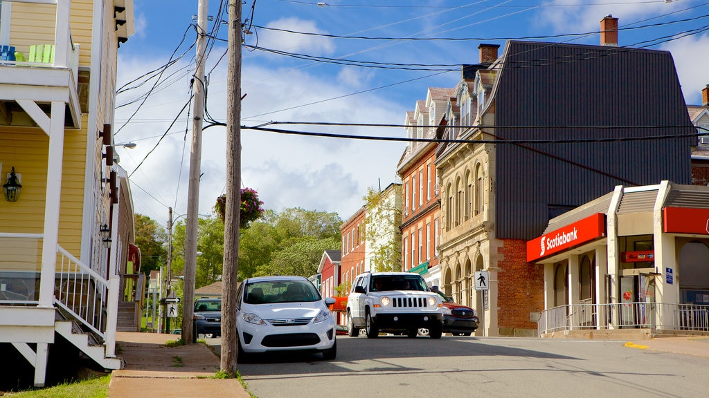 Pictou showing street scenes