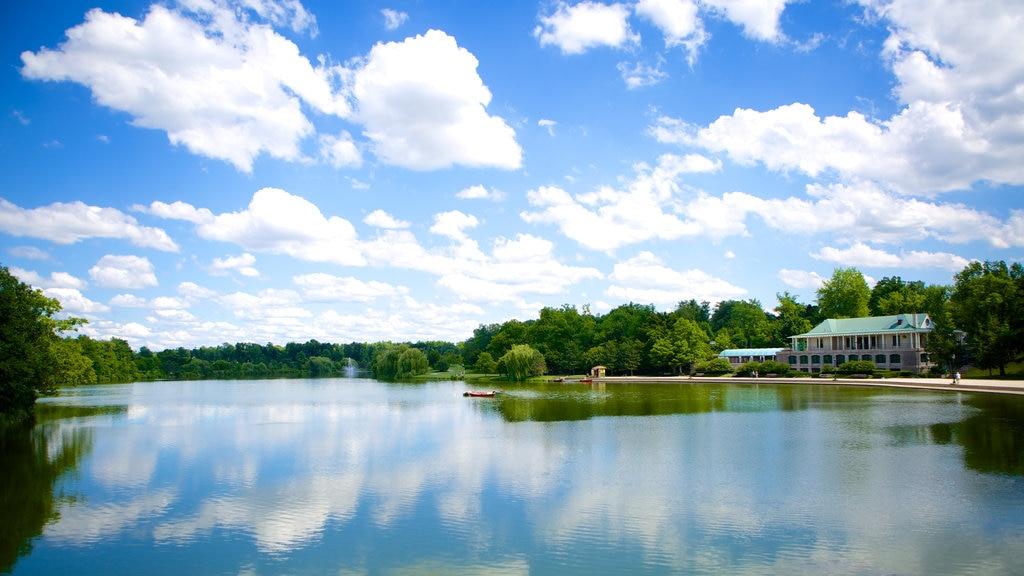 Delaware Park showing a lake or waterhole