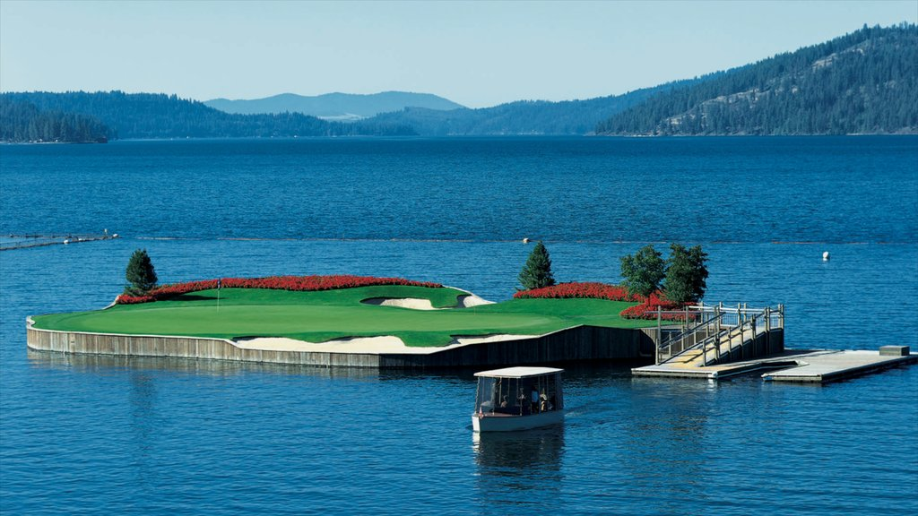 Coeur d\'Alene featuring golf and a lake or waterhole