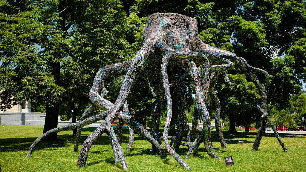 Albright - Knox Art Gallery showing outdoor art, a garden and art