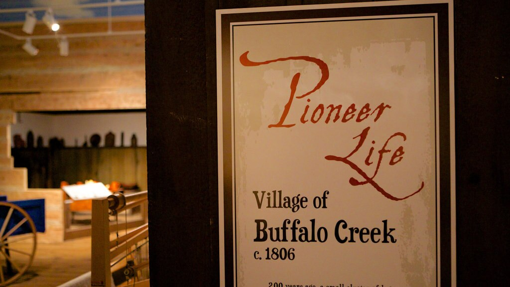 Buffalo showing signage and interior views