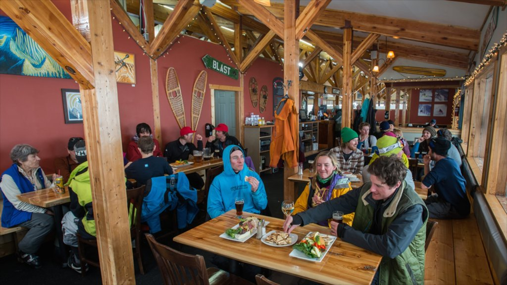 Whitewater Ski Resort showing dining out, interior views and food