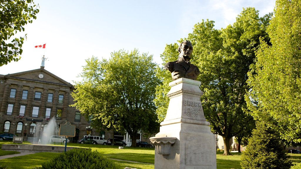 Brockville showing heritage architecture and a monument