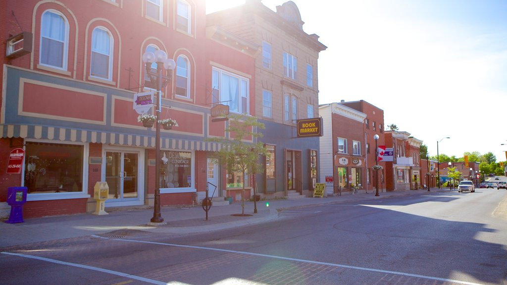 Kemptville showing street scenes and a small town or village