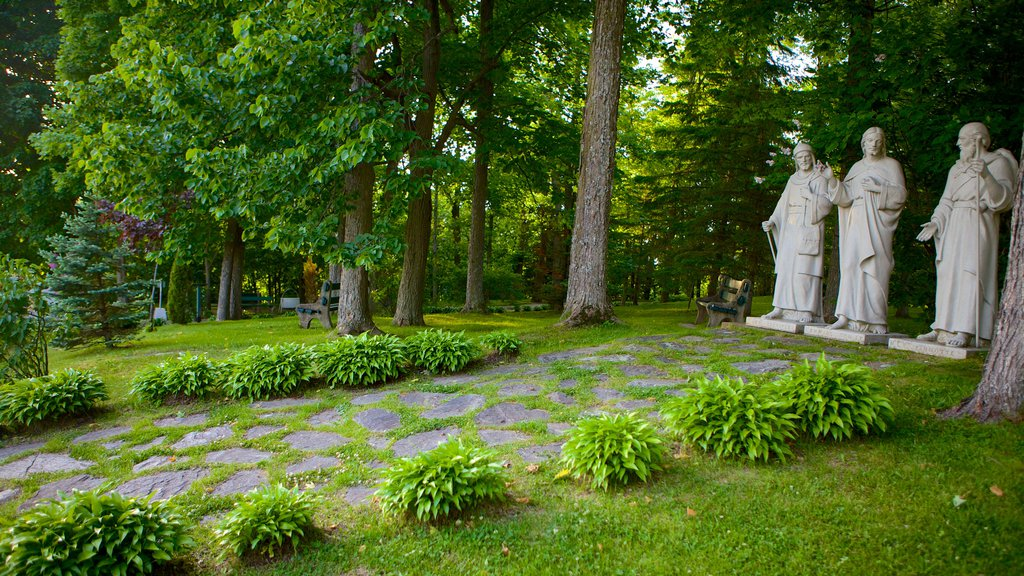 Sherbrooke which includes a garden and a statue or sculpture