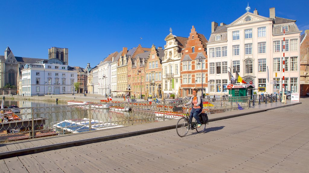 Ghent which includes cycling, a small town or village and a city