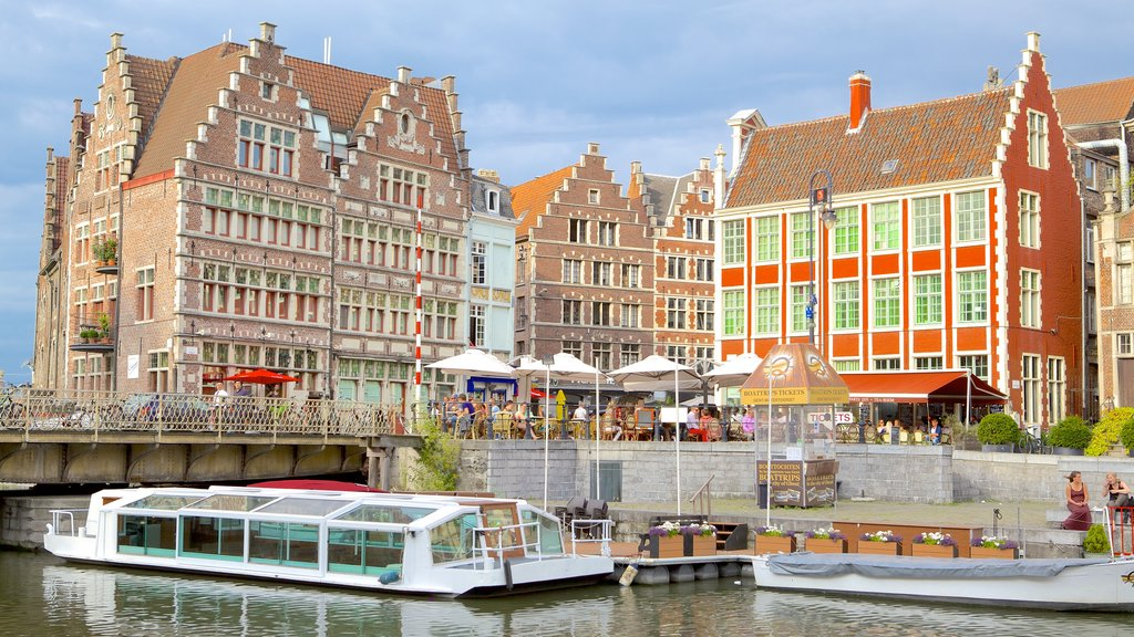 Ghent showing a city and heritage architecture