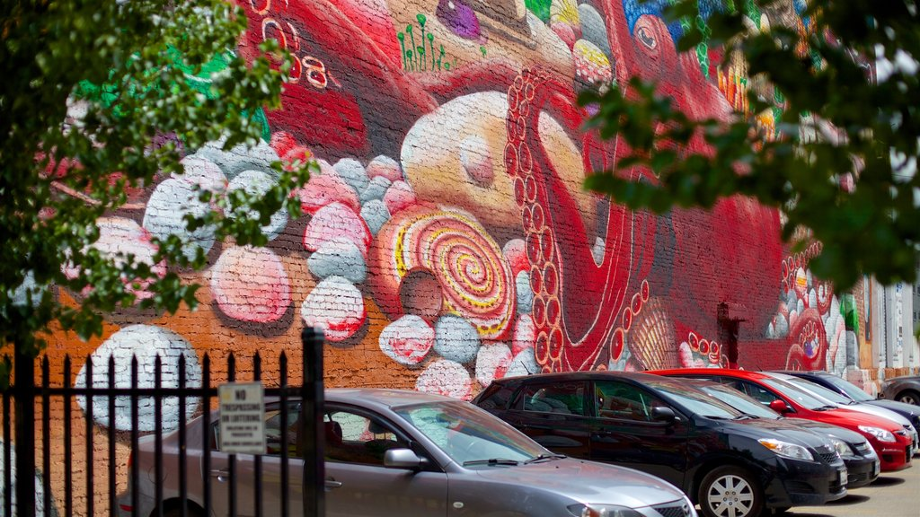 London showing outdoor art and street scenes
