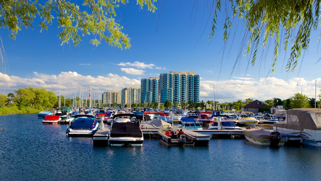 Barrie - Orillia showing a marina