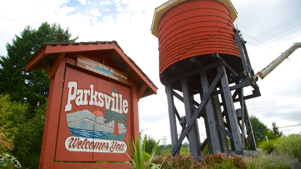 Parksville featuring signage