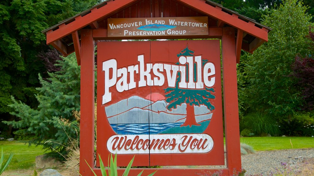 Parksville showing signage