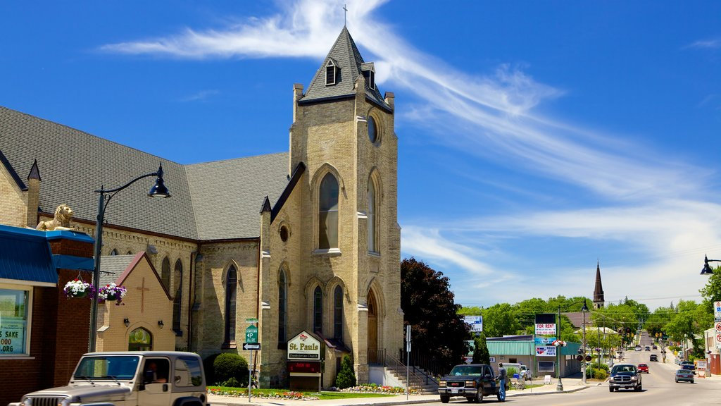 Ingersoll which includes religious aspects, a small town or village and street scenes