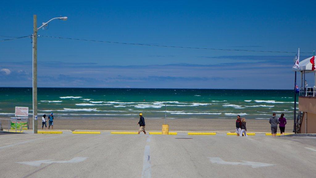 Wasaga Beach showing a sandy beach