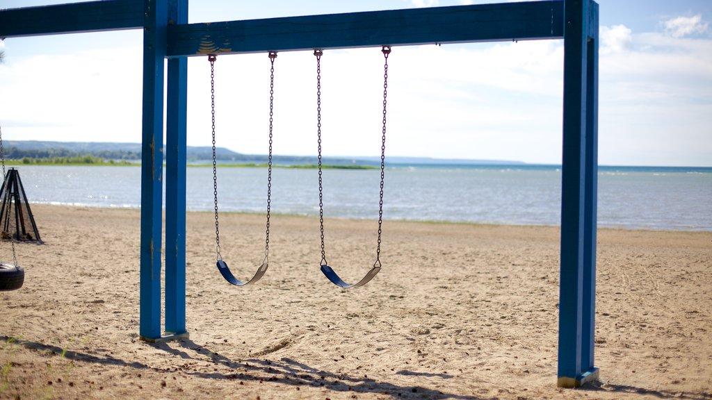 Blue Mountain Beach featuring a playground and a beach