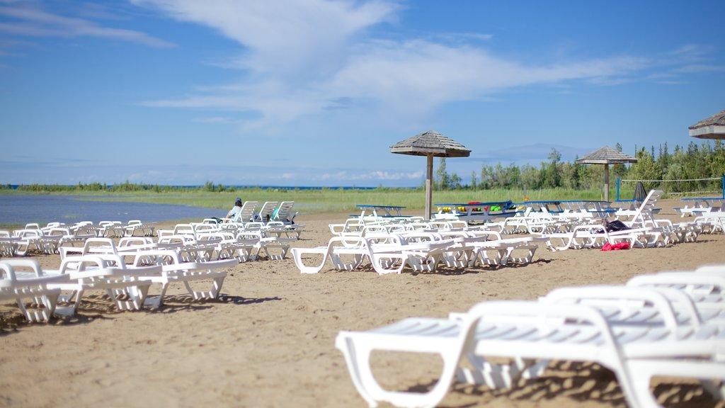 Blue Mountain Beach featuring a sandy beach