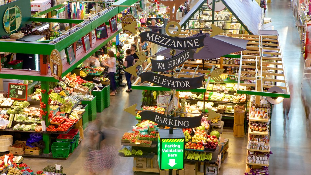 Covent Garden Market showing markets, food and interior views