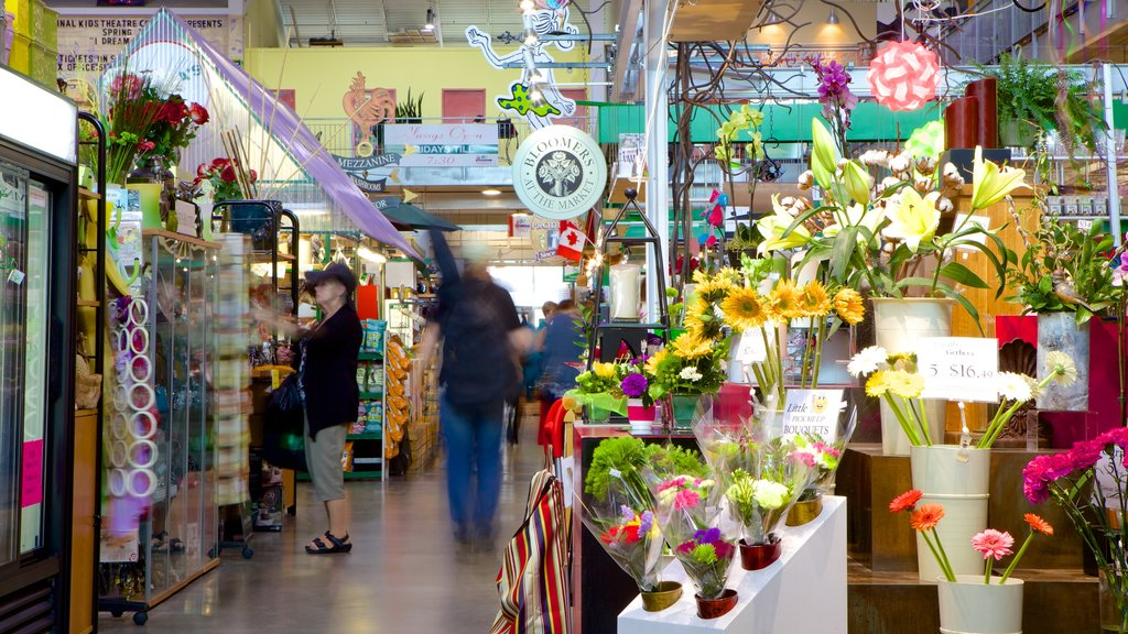 Covent Garden Market featuring flowers, markets and interior views
