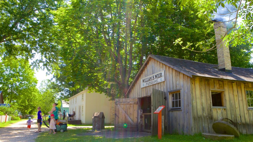 Fanshawe Pioneer Village featuring a small town or village, street scenes and heritage architecture