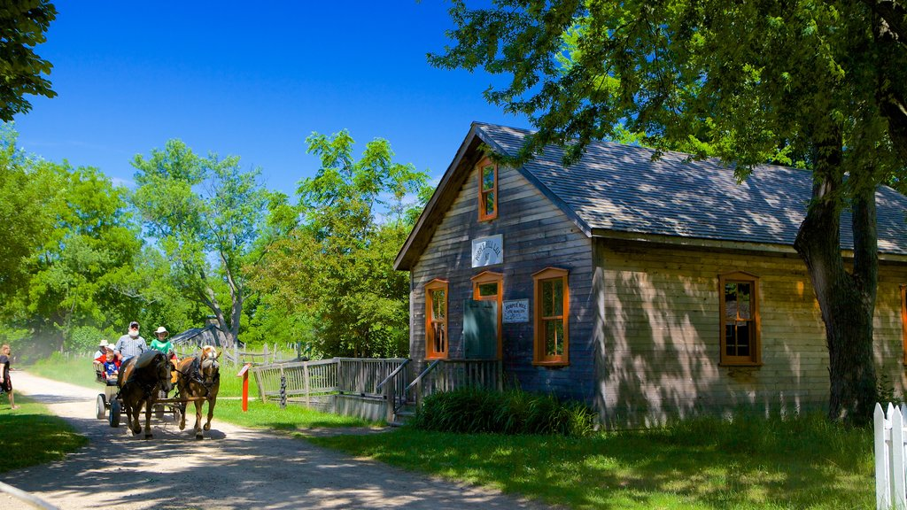 Fanshawe Pioneer Village which includes a small town or village, heritage architecture and street scenes