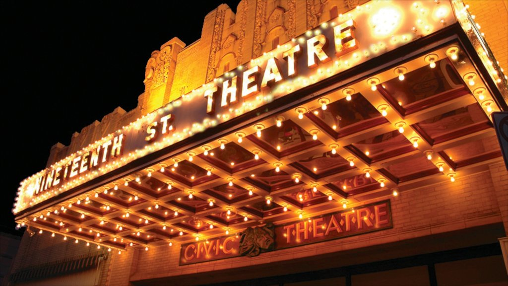 Allentown showing night scenes, signage and theater scenes