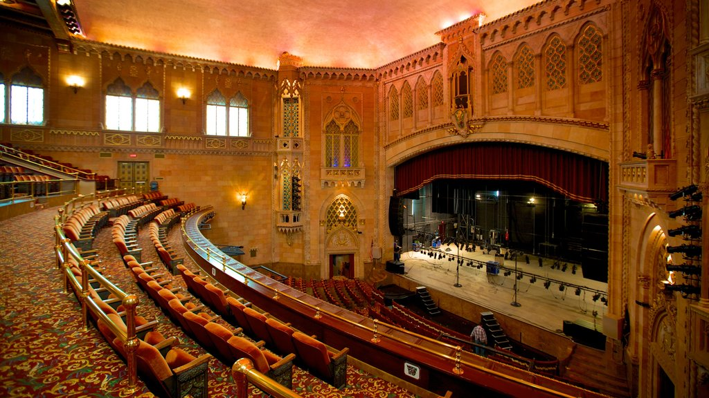 Hershey Theater featuring theater scenes and interior views