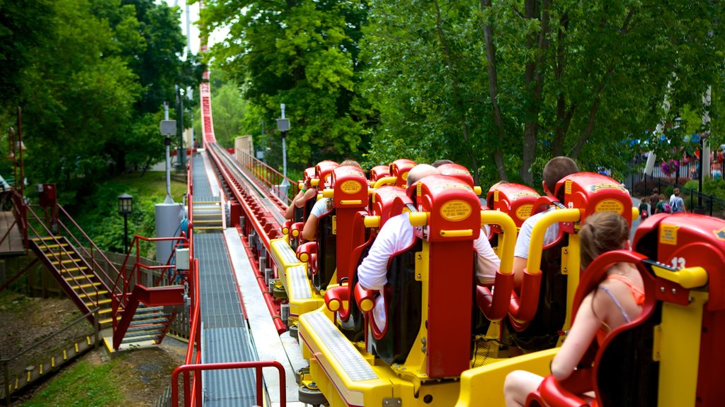 Hersheypark showing rides