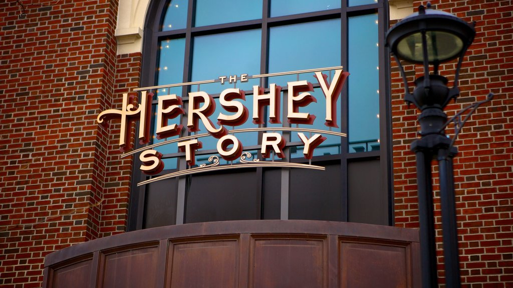 The Hershey Story Museum featuring signage