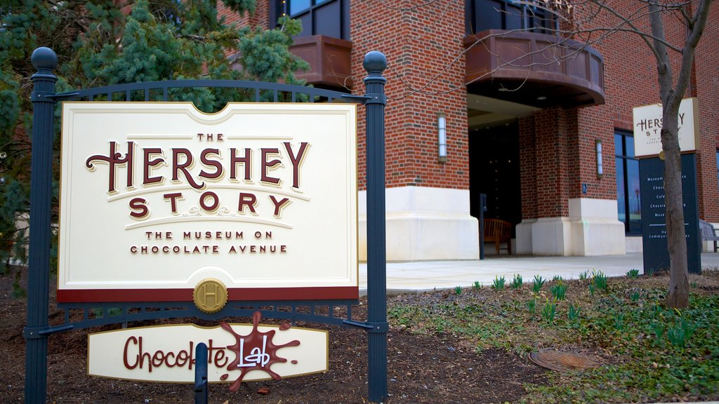 The Hershey Story Museum which includes signage