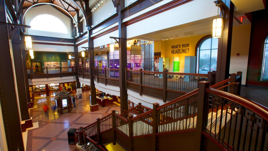 The Hershey Story Museum showing interior views