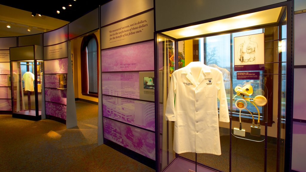 The Hershey Story Museum featuring interior views