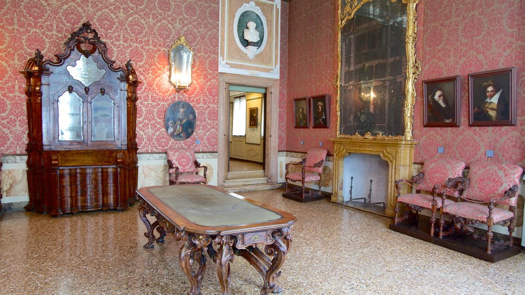 Ca\' Rezzonico featuring chateau or palace, art and interior views